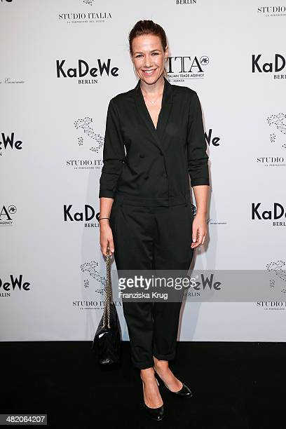 Alexandra Neldel attends the 'Studio Italia La Perfezione del Gusto' Grand Opening at KaDeWe on April 02 2014 in Berlin Germany