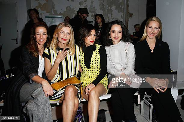 Alexandra Neldel Ursula Karven Viktoria Lauterbach Stephanie Stumph and Judith Rakers attend the Laurel show during the MercedesBenz Fashion Week...