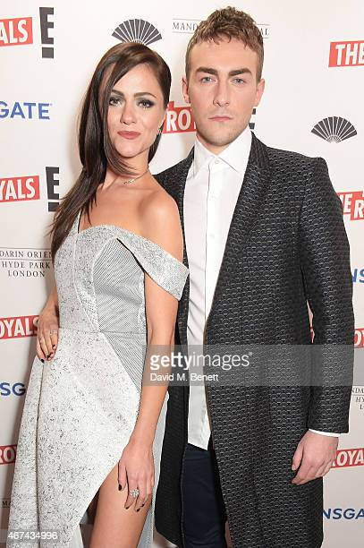 Alexandra Park and Tom Austen attend the 'The Royals' UK premiere party at the Mandarin Oriental Hyde Park on March 24 2015 in London England 'The...