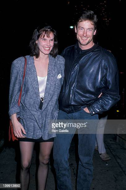 Alexandra Paul and John Nelson at the Performance of 'Hurlyburly' Westwood Playhouse Westwood