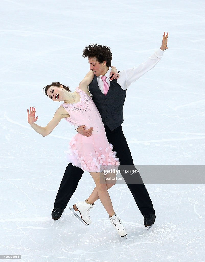 Alexandra Paul and Mitchell Islam of Canada compete during the Figure Skating Ice Dance Short Dance on day 9 of the Sochi 2014 Winter Olympics at Iceberg Skating Palace on February 16, 2014 in Sochi, Russia.