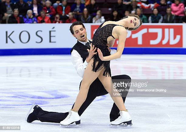 Alexandra Paul and Mitchell Islam of Canada compete in the Ice Dance Short Program during the ISU Grand Prix of Figure Skating Skate Canada...