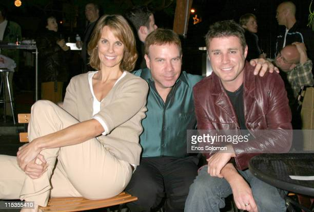 Alexandra Paul Jason Stuart Jaason Simmons during '10 Attitudes' DVD Launch Party at Here Lounge in West Hollwood California United States