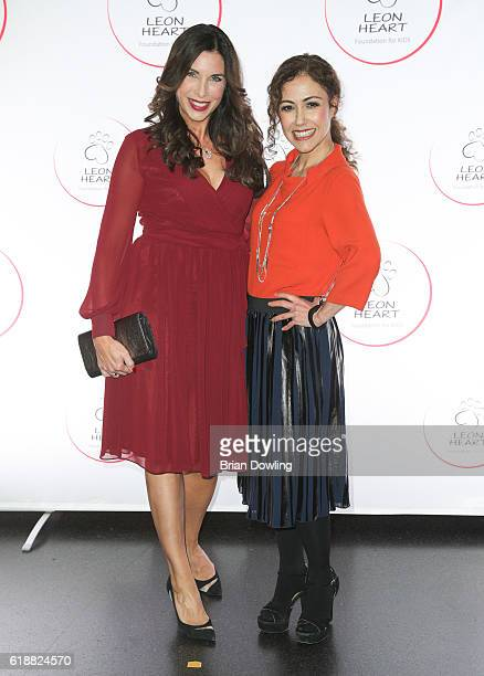 Alexandra Polzin and Anastasia Zampounidis arrive at China Club on October 28 2016 in Berlin Germany