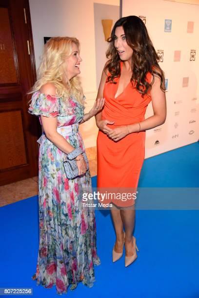 Alexandra Polzin and Jennifer Knaeble attend the 14th SPA Diamond Award at Hotel Palace Berlin on July 3 2017 in Berlin Germany