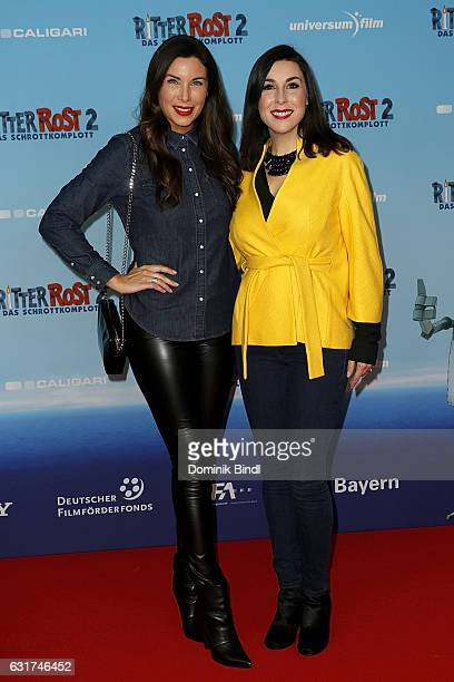 Alexandra Polzin and Judith Williams attend the Ritter Rost 2 Das Schrottkomplott Premiere at Mathaeser Filmpalast on January 15 2017 in Munich...