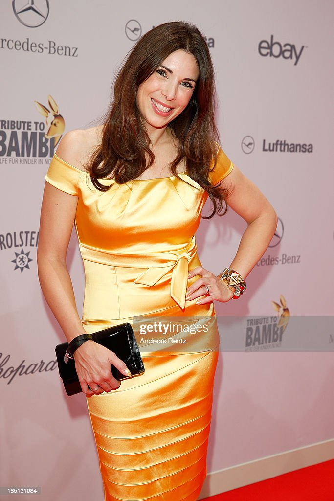 Alexandra Polzin arrives at Tribute To Bambi at Station on October 17, 2013 in Berlin, Germany.