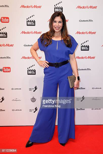 Alexandra Polzin attends the 99FireFilmAward 2016 at Admiralspalast on February 18 2016 in Berlin Germany
