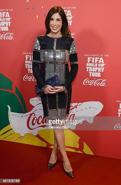 Alexandra Polzin attends the Gala Night of the FIFA World Cup Trophy Tour on March 29 2014 in Berlin Germany