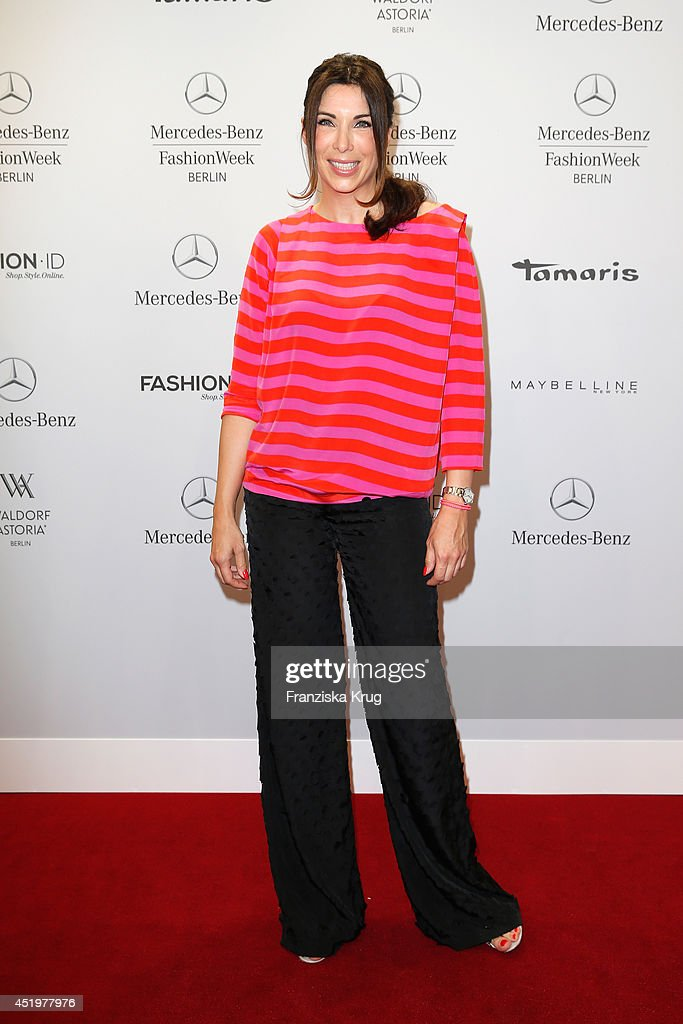<a gi-track='captionPersonalityLinkClicked' href=/galleries/search?phrase=Alexandra+Polzin&family=editorial&specificpeople=221672 ng-click='$event.stopPropagation()'>Alexandra Polzin</a> attends the Laurel show during the Mercedes-Benz Fashion Week Spring/Summer 2015 at Erika Hess Eisstadion on July 10, 2014 in Berlin, Germany.