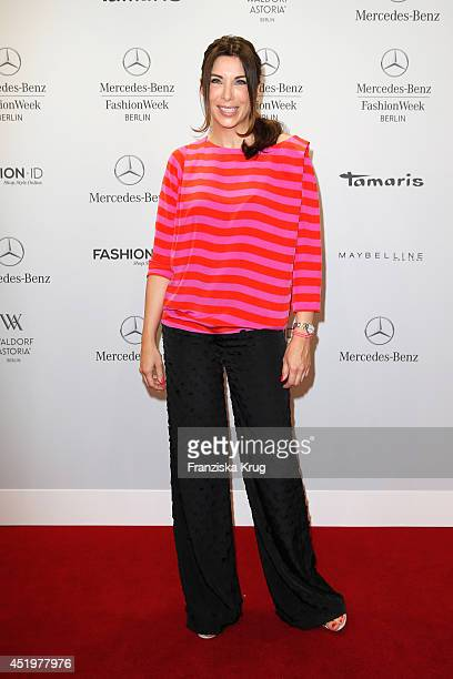Alexandra Polzin attends the Laurel show during the MercedesBenz Fashion Week Spring/Summer 2015 at Erika Hess Eisstadion on July 10 2014 in Berlin...