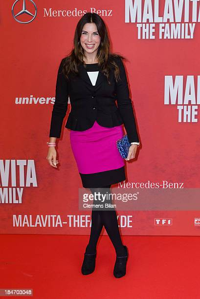 Alexandra Polzin attends the 'Malavita' premiere at Kino in der Kulturbrauerei on October 15 2013 in Berlin Germany
