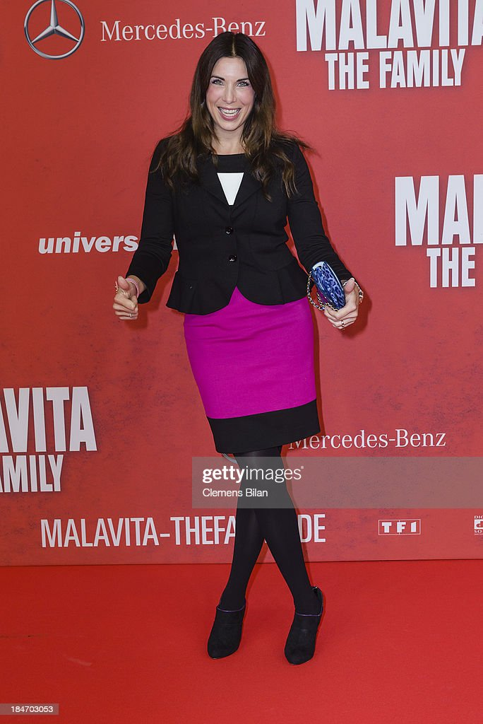<a gi-track='captionPersonalityLinkClicked' href=/galleries/search?phrase=Alexandra+Polzin&family=editorial&specificpeople=221672 ng-click='$event.stopPropagation()'>Alexandra Polzin</a> attends the 'Malavita' premiere at Kino in der Kulturbrauerei on October 15, 2013 in Berlin, Germany.