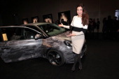 MUNICH GERMANY JANUARY Alexandra Polzin attends the presentation and vernissage of the calender 'THE ADAM BY BRYAN ADAMS' for Opel at Haus der Kunst...