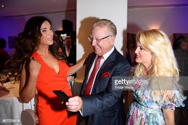 Alexandra Polzin Heinz Horrmann and Jennifer Knaeble attend the 14th SPA Diamond Award at Hotel Palace Berlin on July 3 2017 in Berlin Germany
