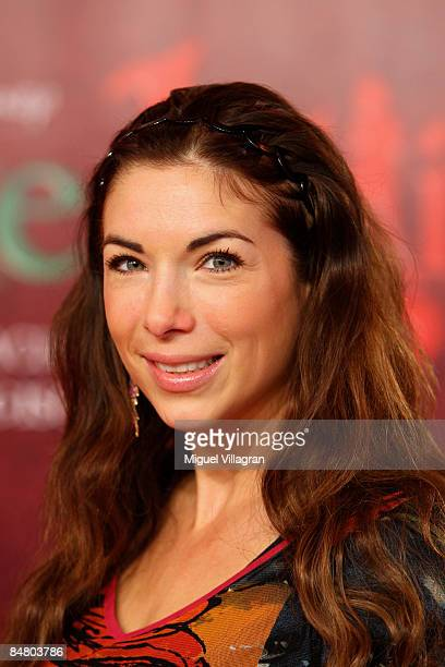Alexandra Polzin looks on during the premiere of the movie 'Lilli The Witch The Dragon And The Magical Book' on February 15 2009 in Munich Germany...