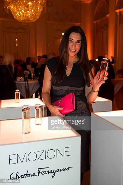 Alexandra Polzin poses during the Salvatore Ferragamo Emozione Fragrance Launch event at Residenz on February 5 2015 in Munich Germany