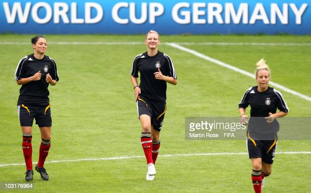 Alexandra Popp runs during a training session of Germany at the FIFA U20 Women's World Cup stadium on July 31 2010 in Bielefeld Germany