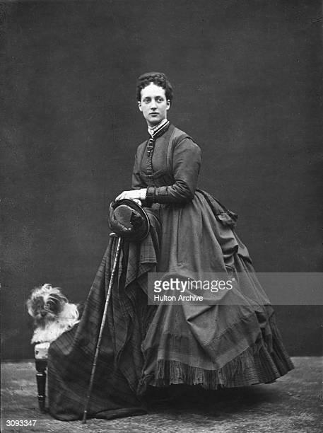 Alexandra Princess of Wales with her Tibetan Lion Dog