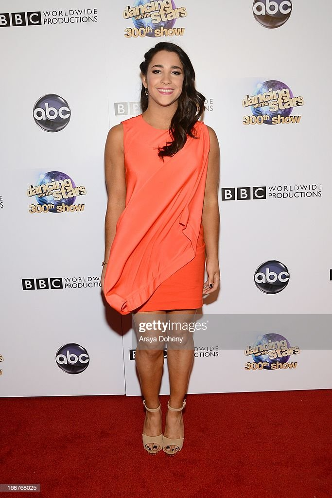 Alexandra Raisman arrives at the 'Dancing With The Stars' 300th episode red carpet event on May 14, 2013 in Los Angeles, California.