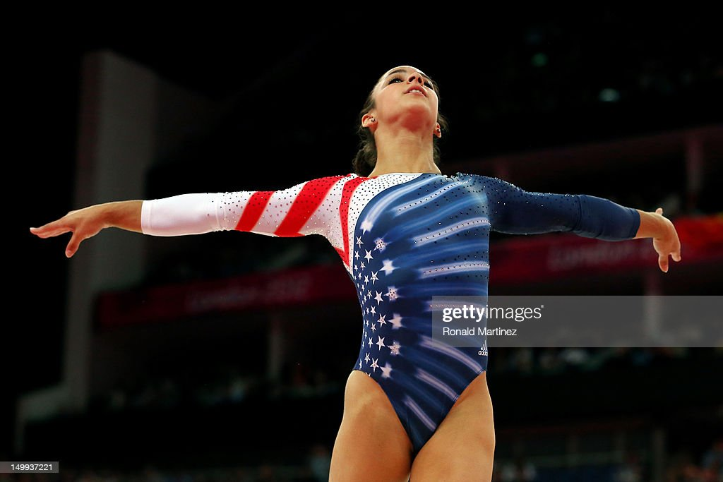 Alexandra Raisman of the United States competes in the Artistic Gymnastics Women's Floor Exercise final on Day 11 of the London 2012 Olympic Games at North Greenwich Arena on August 7, 2012 in London, England.