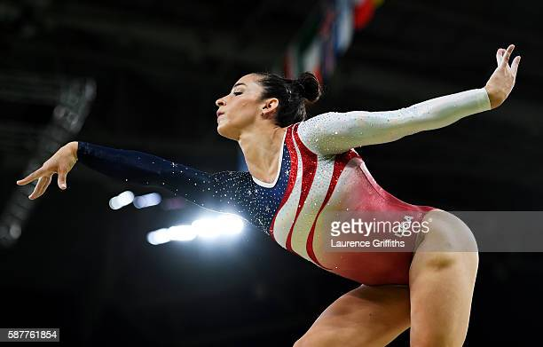 Alexandra Raisman of the United States competes on the balance beam during the Artistic Gymnastics Women's Team Final on Day 4 of the Rio 2016...