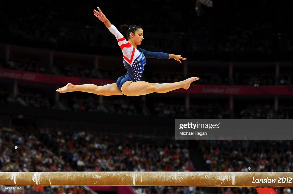 Alexandra Raisman of the United States competes on the beam during the Artistic Gymnastics Women's Beam final on Day 11 of the London 2012 Olympic...