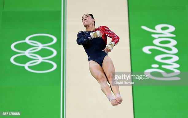 Alexandra Raisman of the United States competes on the vault during Women's qualification for Artistic Gymnastics on Day 2 of the Rio 2016 Olympic...