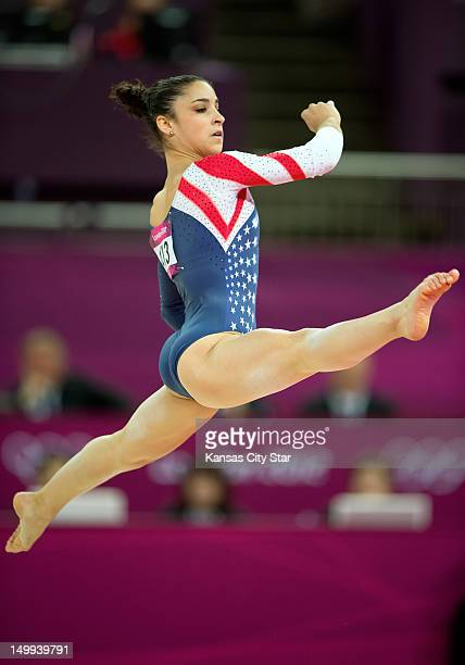 Alexandra Raisman of the United States won the gold medal for her performance in the women's floor exercises apparatus finals at North Greenwich...