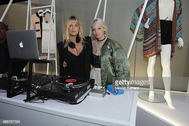 Alexandra Richards and Cory Kennedy attend the StyleWatch x Revolve Fall Fashion Party on the The High Line on August 12 2015 in New York City