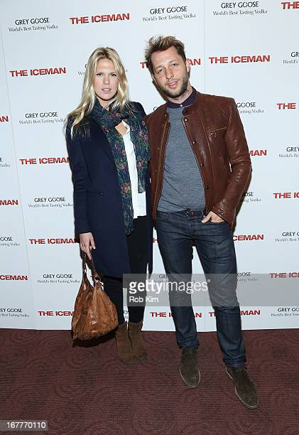 Alexandra Richards and Derek Blasberg attend the 'The Iceman' screening presented by Millennium Entertainment and GREY GOOSE at Chelsea Clearview...
