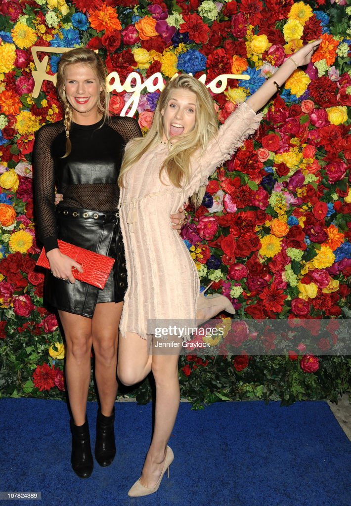 DJ Alexandra Richards and Model Theodora Richards attends the Ferragamo Celebrates The Launch Of L'Icona Highlighting The 35th Anniversary Of Vara at The McKittrick Hotel, Home of Sleep No More on April 30, 2013 in New York City.