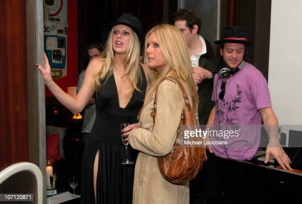 Alexandra Richards and Patti Hansen during Alexandra Richards Hosts the Stelle Fall 2007 Collection at Thom Bar in New York City New York United...