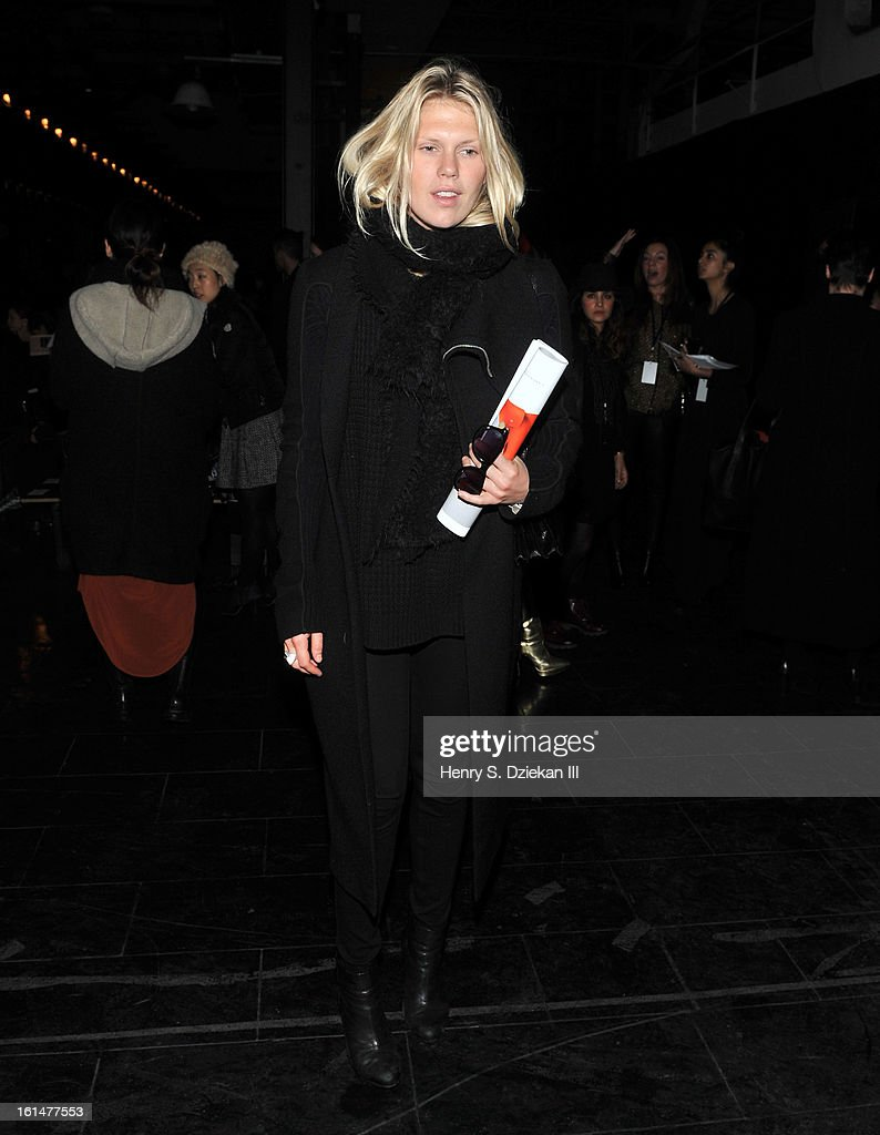 Alexandra Richards attends Theyskens' Theory during Fall 2013 Mercedes-Benz Fashion Week at Skylight Studios at Moynihan Station on February 11, 2013 in New York City.