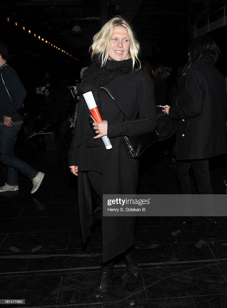 <a gi-track='captionPersonalityLinkClicked' href=/galleries/search?phrase=Alexandra+Richards&family=editorial&specificpeople=213455 ng-click='$event.stopPropagation()'>Alexandra Richards</a> attends Theyskens' Theory during Fall 2013 Mercedes-Benz Fashion Week at Skylight Studios at Moynihan Station on February 11, 2013 in New York City.