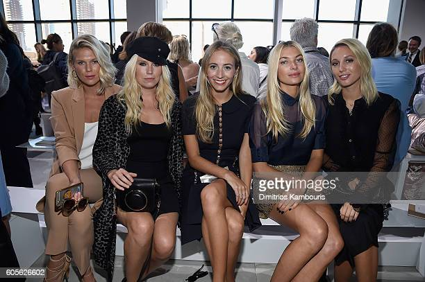 Alexandra Richards Theodora Richards Harley Viera Newton Jessica Hart and Princess MariaOlympia of Greece and Denmark attend the Michael Kors Spring...