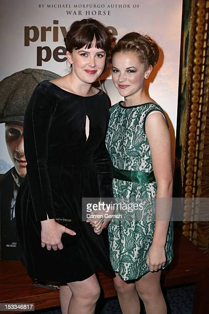 Alexandra Roach and Izzy MeikleSmall attend the premiere of 'Private Peaceful' at the Curzon Mayfair on October 3 2012 in London England