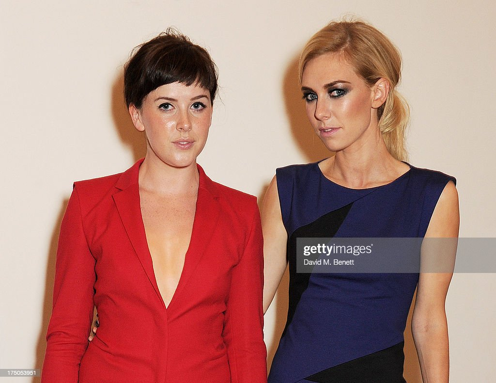 <a gi-track='captionPersonalityLinkClicked' href=/galleries/search?phrase=Alexandra+Roach&family=editorial&specificpeople=8741844 ng-click='$event.stopPropagation()'>Alexandra Roach</a> (L) and <a gi-track='captionPersonalityLinkClicked' href=/galleries/search?phrase=Vanessa+Kirby&family=editorial&specificpeople=8282131 ng-click='$event.stopPropagation()'>Vanessa Kirby</a> attend a private view of 'HUGO: Red Never Follows', celebrating 20 years of Hugo Boss, at the Saatchi Gallery on July 30, 2013 in London, England.