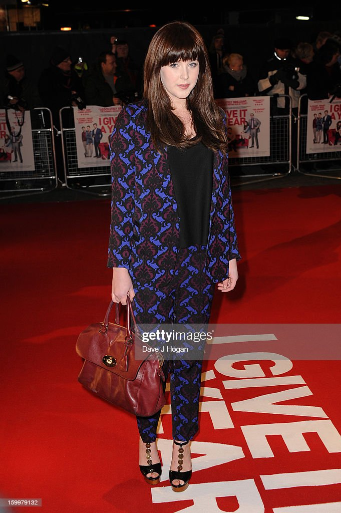Alexandra Roach attends the European premiere of 'I Give It A Year' at The Vue West End on January 24, 2013 in London, England.