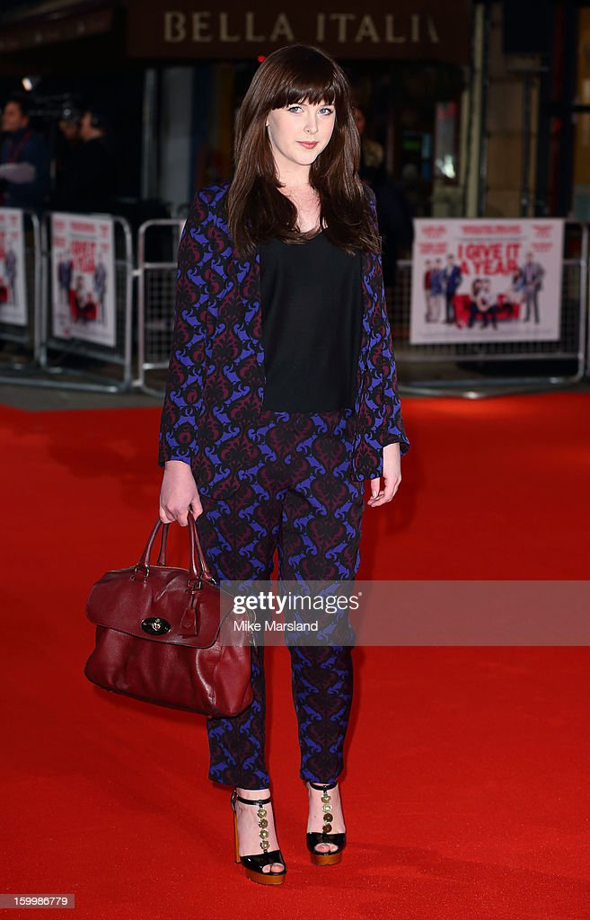 Alexandra Roach attends the European Premiere of 'I Give It A Year' at Vue West End on January 24, 2013 in London, England.