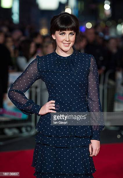 Alexandra Roach attends the European premiere of 'One Chance' at The Odeon Leicester Square on October 17 2013 in London England
