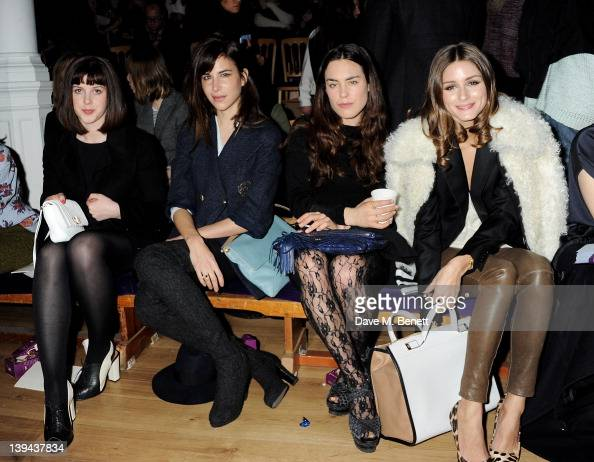 Alexandra Roach Caroline Sieber Tallulah Harlech and Olivia Palermo attend the Anya Hindmarch Autumn/Winter 2012 Presentation during London Fashion...