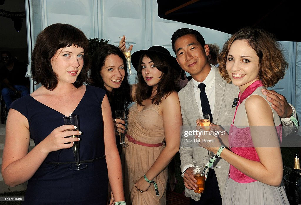 <a gi-track='captionPersonalityLinkClicked' href=/galleries/search?phrase=Alexandra+Roach&family=editorial&specificpeople=8741844 ng-click='$event.stopPropagation()'>Alexandra Roach</a>, guest, Remy Beasley, Wayne Yip and Tuppence Middleton attend the Boujis tent at the Audi International Polo day at Guards Polo Club on July 28, 2013 in Egham, England.