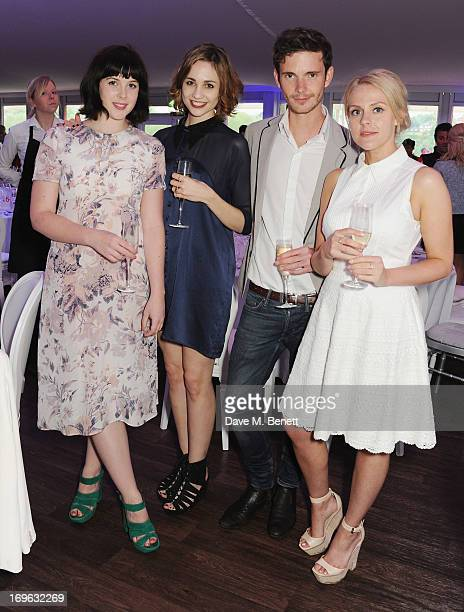 Alexandra Roach Tuppence Middleton and guests attend at the Audi Royal Polo Challenge 2013 at Chester Racecourse on May 29 2013 in Chester England