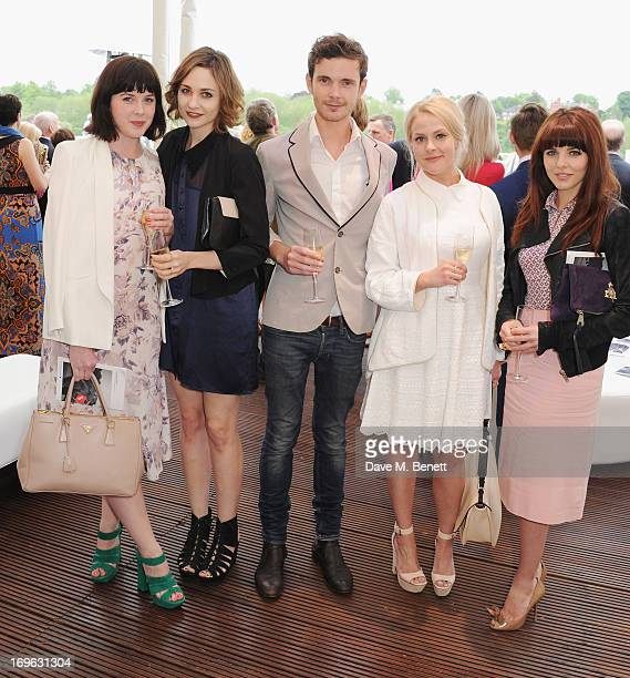 Alexandra Roach Tuppence Middleton guests and Ophelia Lovibond attend at the Audi Royal Polo Challenge 2013 at Chester Racecourse on May 29 2013 in...