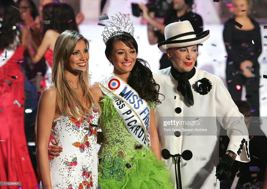 Alexandra ROsenfeld, Miss Picardie, Rachel Legrain-Trapani - Miss France 2007 and <a gi-track='captionPersonalityLinkClicked' href=/galleries/search?phrase=Genevieve+de+Fontenay&family=editorial&specificpeople=2139929 ng-click='$event.stopPropagation()'>Genevieve de Fontenay</a>