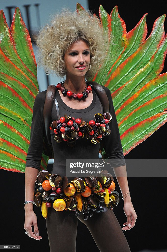 Alexandra Rosenfeld walks down the runway during the 18th Salon Du Chocolat at Parc des Expositions Porte de Versailles on October 30, 2012 in Paris, France.
