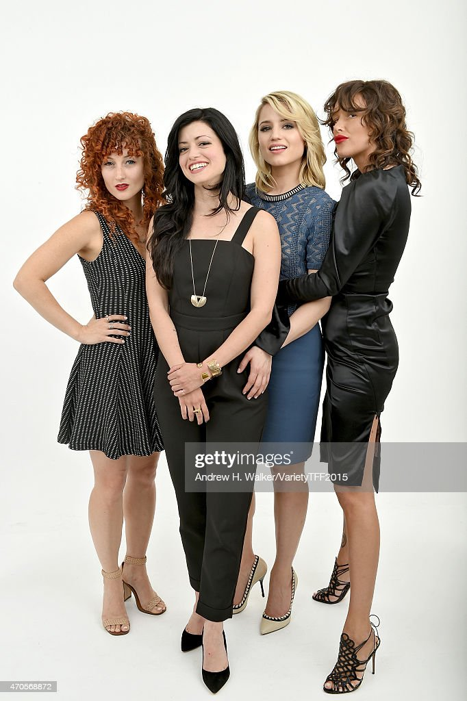 Alexandra Roxo, Natalia Leite, Dianna Agron and Paz de la Huerta from 'Bare' appear at the 2015 Tribeca Film Festival Getty Images Studio on April 20, 2015 in New York City.