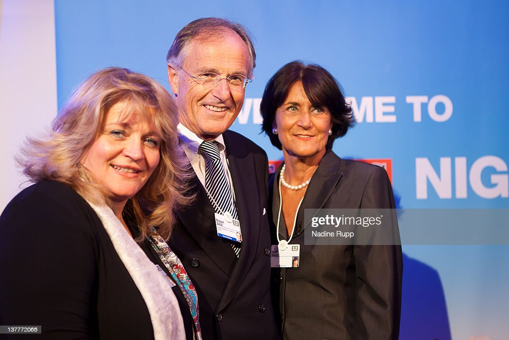 Alexandra Schoerhuber as well as Robert and Helga Salzl attend the Burda DLD Nightcap 2011 at the Steigenberger Belvedere hotel on January 25, 2012 in Davos, Switzerland.