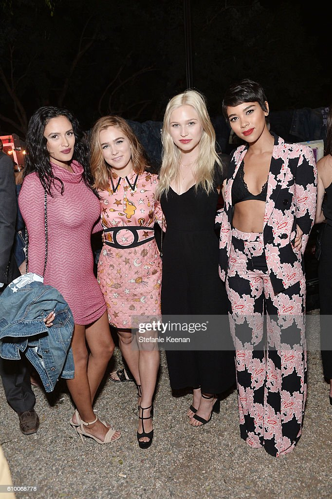 Alexandra Shipp (R) anf guests attend 14th Annual Teen Vogue Young Hollywood with American Eagle Outfitters on September 23, 2016 in Malibu, California.